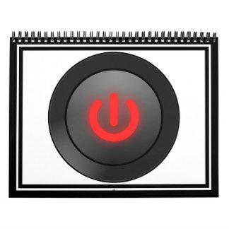 Botón negro - rojo - del símbolo calendarios