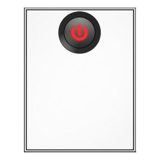 Botón negro - rojo - del símbolo membrete