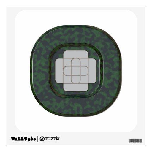 Botón negro verde