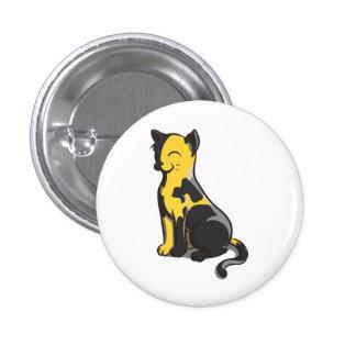 Botón negro y amarillo del gato del oro de Ancap