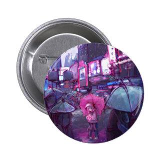Botón neo de Nueva York Pin Redondo De 2 Pulgadas