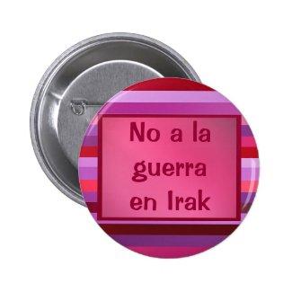 Botón - No a la guerra en Irak Pin