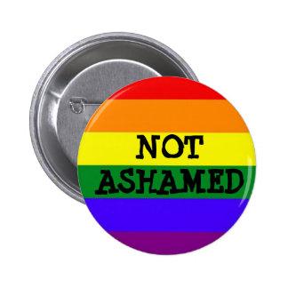 Botón no avergonzado del orgullo pin redondo de 2 pulgadas