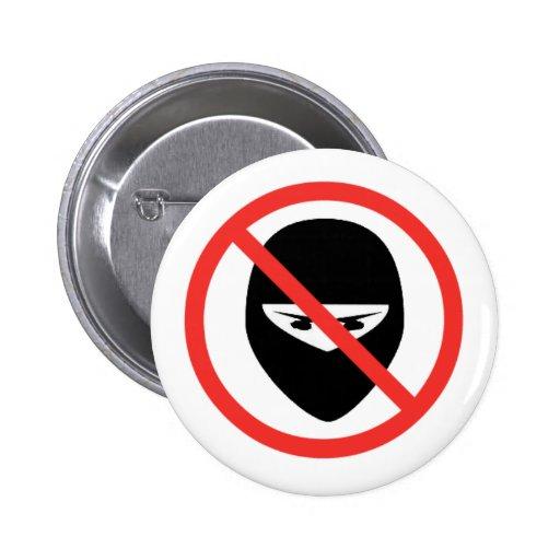 Botón No-Ninjas Pin Redondo De 2 Pulgadas