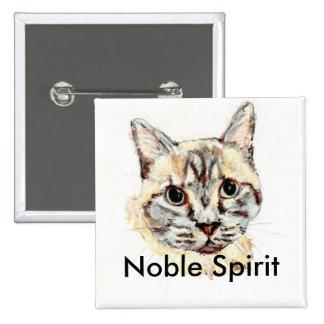Botón noble del gato del alcohol pin