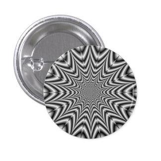 Botón Nova estupendo en blanco y negro Pin Redondo De 1 Pulgada