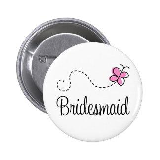 Botón nupcial de la dama de honor del fiesta pin