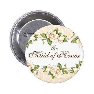 Botón nupcial del fiesta del damasco de la Magnoli