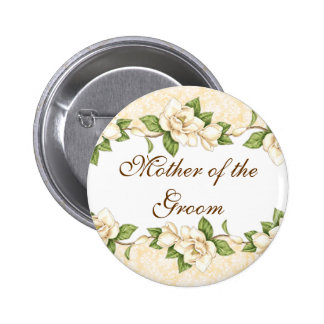 Botón nupcial del fiesta del damasco de la Magnoli Pin