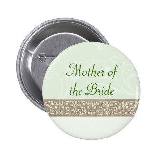 Botón nupcial del fiesta del friso ornamental sabi pin
