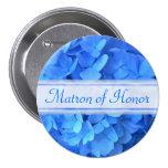 Botón nupcial del fiesta del Hydrangea azul Pin