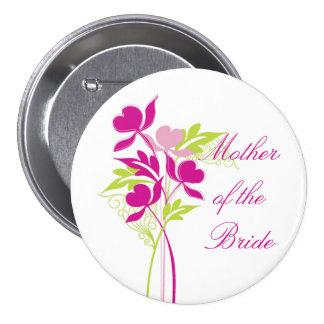 Botón nupcial elegante del fiesta del ramo rosado  pins