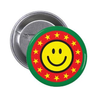 Botón o perno sonriente del pinback del buen traba pins