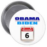 Botón - Obama/Biden - calendario Pin