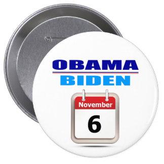 Botón - Obama/Biden - calendario Pin Redondo De 4 Pulgadas