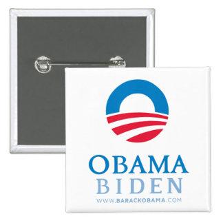 Botón Obama-Biden Pin Cuadrado