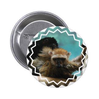 Botón observado azul del Lemur Pin