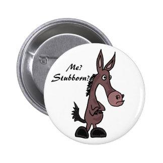 Botón obstinado del dibujo animado de la mula AP Pins