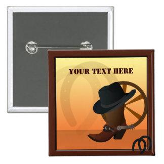 Botón occidental del personalizado del vaquero