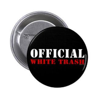 Botón oficial de la basura blanca