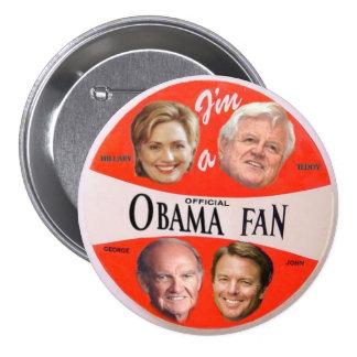 Botón oficial de la fan de Obama Pins
