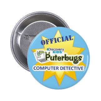 Botón oficial del detective del ordenador