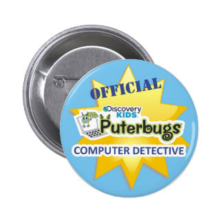 Botón oficial del detective del ordenador pin redondo de 2 pulgadas