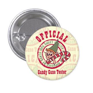 Botón oficial del probador del bastón de caramelo pins