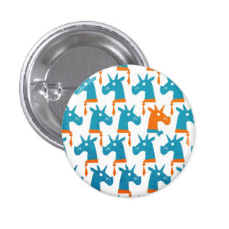 Botón opcional del unicornio de la pajarita pin redondo de 1 pulgada