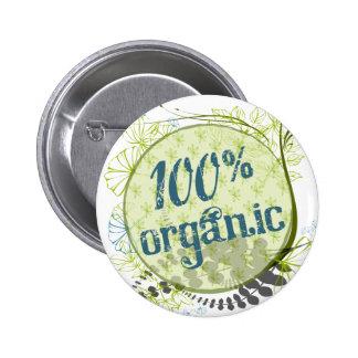 Botón orgánico del 100% pins