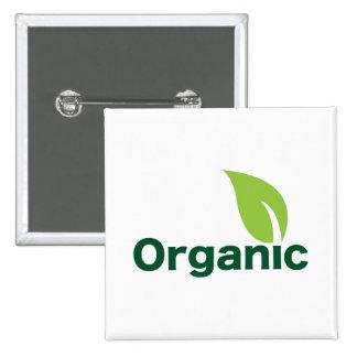 Botón orgánico pin cuadrado
