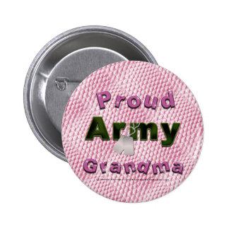 Botón orgulloso de la abuela del ejército pin redondo de 2 pulgadas