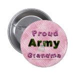 Botón orgulloso de la abuela del ejército pins