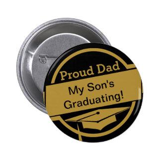 Botón orgulloso de la graduación pin