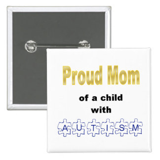 Botón orgulloso de la mamá pin cuadrado
