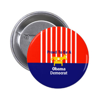 Botón orgulloso de Obama Pin Redondo De 2 Pulgadas