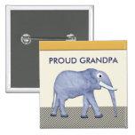 Botón orgulloso del abuelo del elefante pins