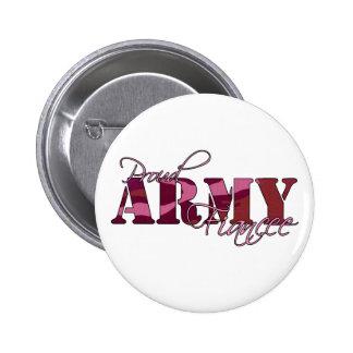 Botón orgulloso del prometido del ejército pins