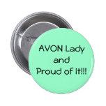Botón orgulloso verde de Avon Pin