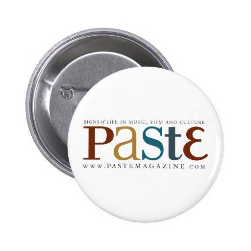 Botón original del logotipo de la goma pins
