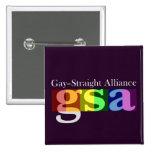Botón oscuro cuadrado clásico de GSA Pin