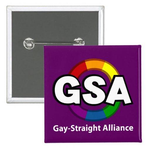 Botón oscuro cuadrado de GSA ToonB Pins