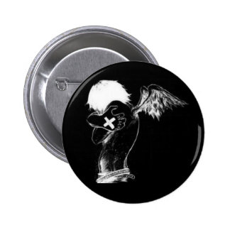 Botón oscuro del ángel pin redondo de 2 pulgadas