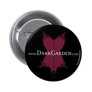 Botón oscuro del jardín pin redondo de 2 pulgadas