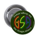 Botón oscuro redondo de neón de GSA Pins