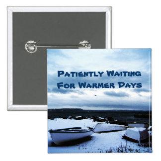 Botón pacientemente que espera