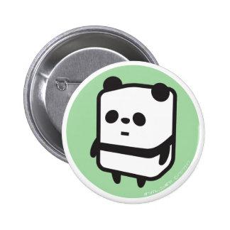Botón - panda de la caja - verde pins