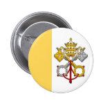 Botón papal de la bandera pin