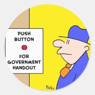 botón para el folleto del gobierno pegatinas redondas