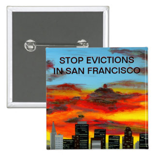 Botón - PARE los DESAHUCIOS EN SAN FRANCISCO Pin Cuadrado